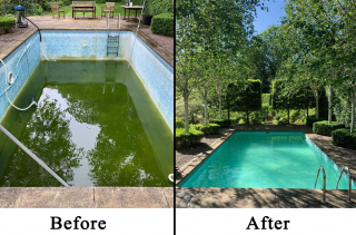Before & After-Pool Servicing